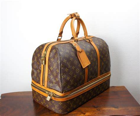 vintage louis vuitton monogram sac sport travel bag large duffle weekender bottom compartment