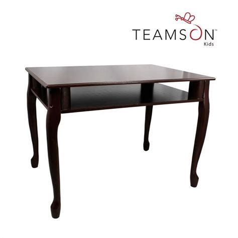 teamson rectangular table and set of 2 chairs