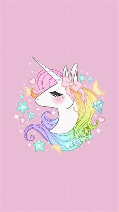 Unicorn Kawaii Pink Backgrounds Wallpapers Lockscreen Desktop