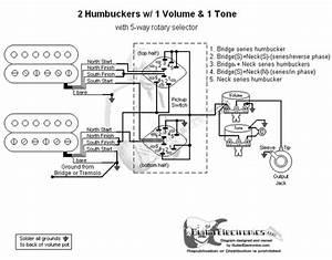 2 Humbuckers  5 1 Volume  1 Tone  03