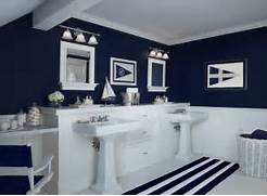 Navy Blue Interior Design Idea Design Home Decorating Ideasbathroom Interior Navy Blue Bathroom Ideas