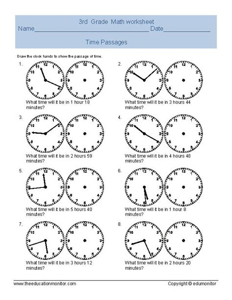 free grade 4 time worksheets time worksheets free