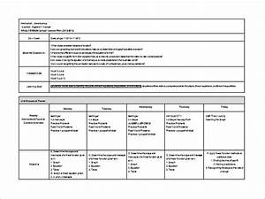 daily lesson plan template word document - middle school lesson plan template 6 free word excel