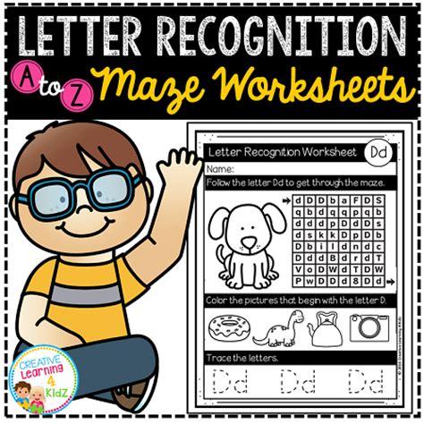 letter recognition maze worksheets digital