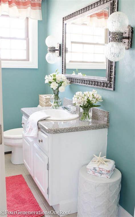 blue and coral bathroom 2192 best hometalk styles coastal cottage images on pinterest