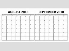 September 2018 Calendar PDF printable yearly calendar