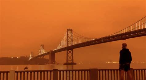 wildfires turn san francisco sky blade runner  orange