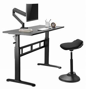 Liveart  Tm  Manual Sit To Stand Height Adjustable Desk