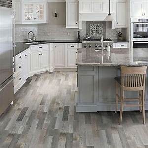 Kaden reclaimed wood look floor tile available at lowe39s for Kitchen cabinets lowes with how to get stickers off wood