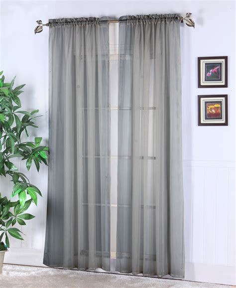 Silver Sheer Curtains Walmart by Sheer Abby Curtain Colors