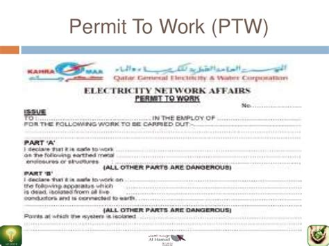 Permit To Work At Height Template - Costumepartyrun