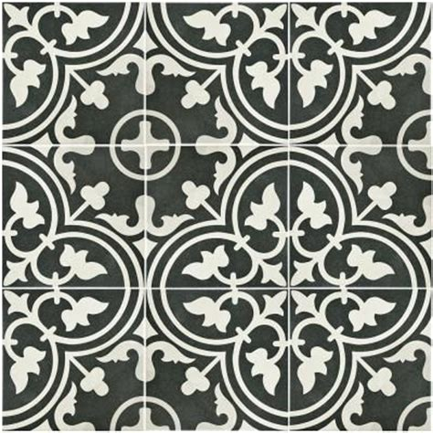 merola tile arte black 9 3 4 in x 9 3 4 in porcelain