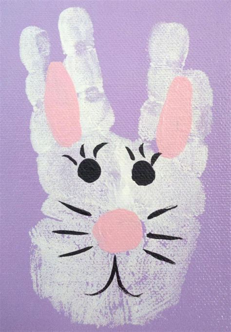hand easter bunny kids craft