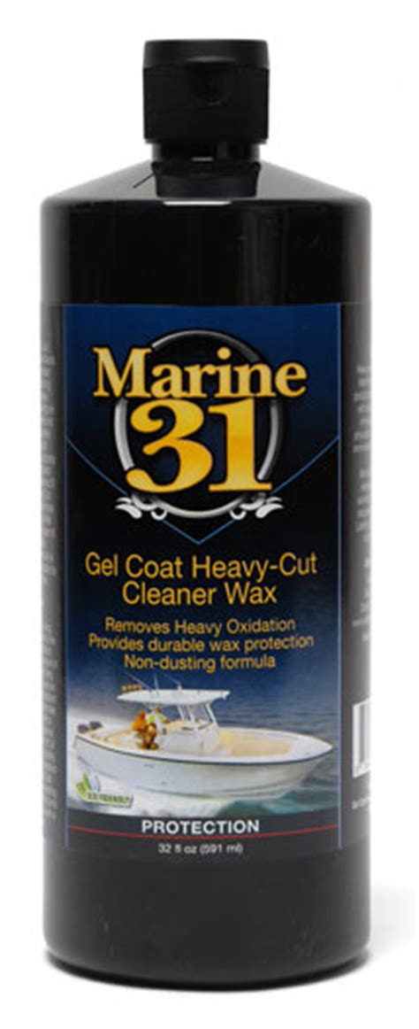 Heavy Boat Wax by Marine 31 Gel Coat Heavy Cut Cleaner Wax Boat Cleaner Wax