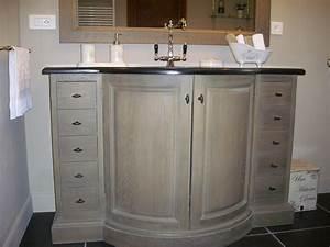 Meuble Vasque Retro : nouveau meuble vasque photo 1 1 pierre bleue ~ Teatrodelosmanantiales.com Idées de Décoration
