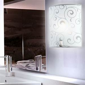 Wand Glas Küche : led design wand spot lampe glas muster beleuchtung b ro flur k che leuchte diele ebay ~ Sanjose-hotels-ca.com Haus und Dekorationen