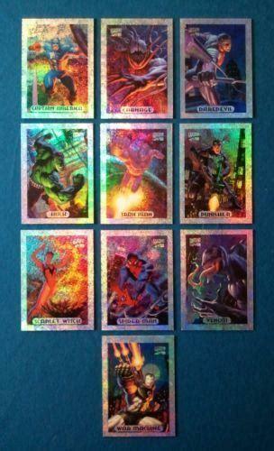 marvel comic cards ebay