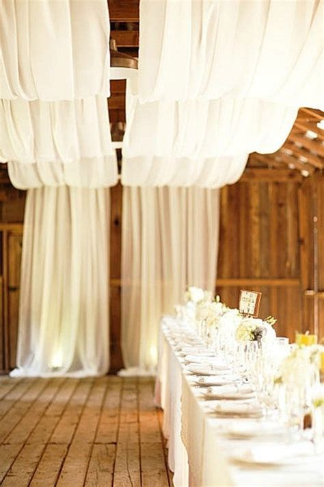 Wedding Draping Fabric - 9 gorgeous decorating ideas for a barn wedding