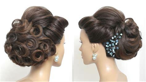 Beautiful Bridal Hairstyle For Long Hair Tutorial. Wedding