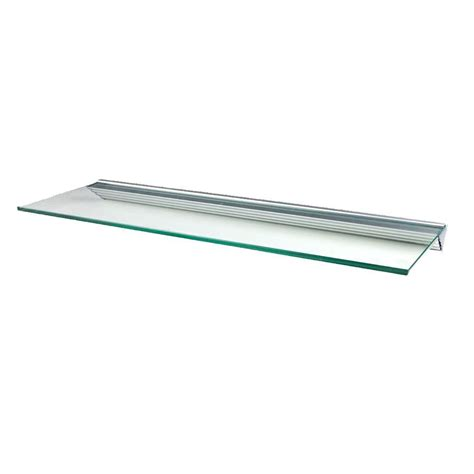 glass shelf brackets wallscapes glacier 48 in w x 12 in d clear glass shelf