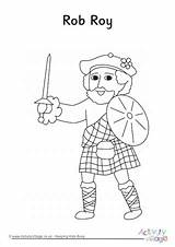 Colouring Pages Rob Scotland Roy Map Colour Activityvillage sketch template