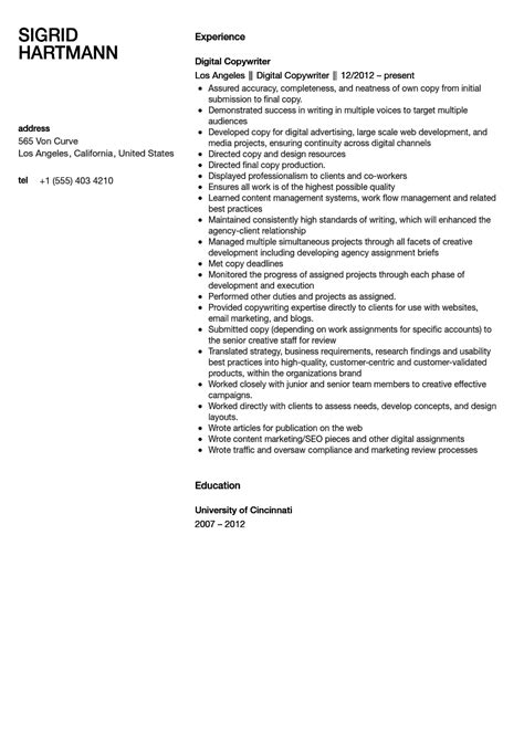 Copywriter Resumes by List Of Synonyms And Antonyms Of The Word Copywriter Resume