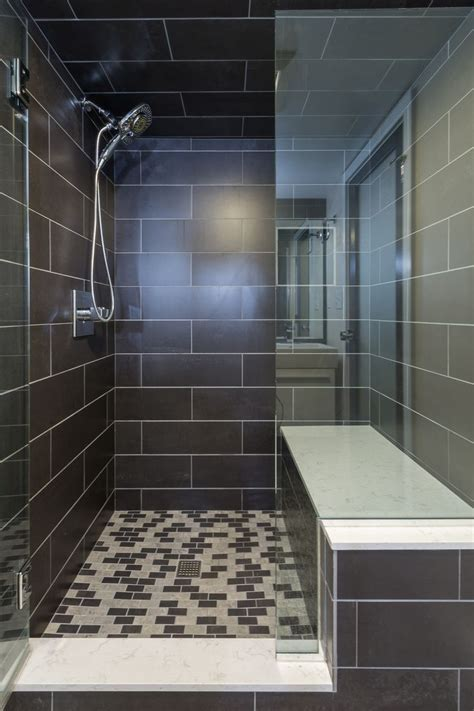 Basement bath remodel in a space challenged by low