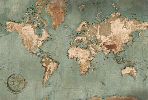 chambre pont papier peint carte du monde géante dans votre décoration