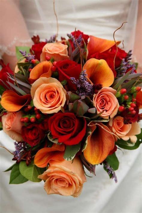 picking  perfect autumn wedding bouquet orange chwv