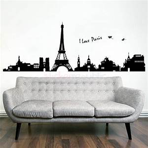 paris city skyline eiffel tower wall decal wall sticker With awesome paris wall decals australia