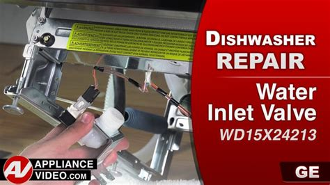 ge gdtssjss dishwasher leaking water water inlet valve appliance video