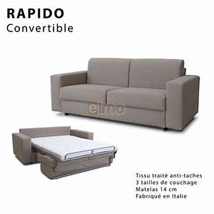 canape convertible rapido couchage 3 tailles tissu trame With canapé convertible rapido avec tapis grande taille