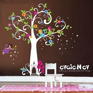 girls wall decals fairy wall decals fairy tree with With fairy wall decals