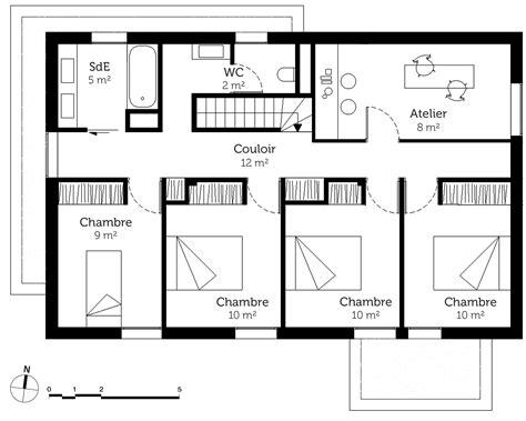 plan maison 224 233 tage avec 5 chambres ooreka