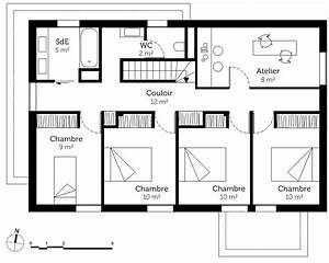 plan maison a etage avec 5 chambres ooreka With plan de maison 2 etage 5 plan maison mikit 4 chambres