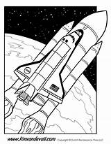 Shuttle Space Coloring Printable Printables Science Facts Timvandevall Sources sketch template