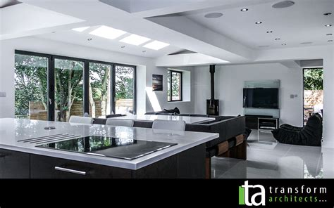 ideas for kitchen extensions facing kitchen and living room extension ideas