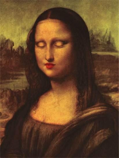 Mona Lisa Monalisa Funny Gifs Lenticular Cool
