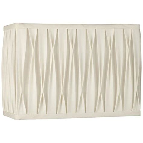 white rectangle l shade white pinched pleat rectangle shade 14 7x14 7x10 spider