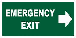 Emergency Exit Right Sign E1285 - National Safety Signs