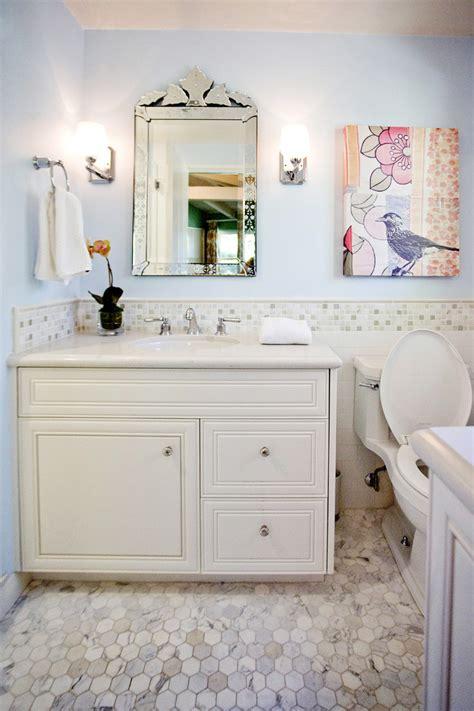 tile chair rail bathroom traditional