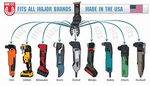 Imperial universal blades for all oscillating multi-tools