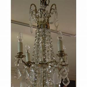 Lustre Pampilles Cristal : grand lustre pampilles en cristal du xixe si cle ~ Teatrodelosmanantiales.com Idées de Décoration
