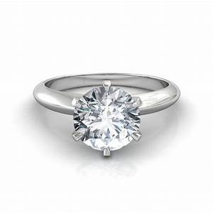 round brilliant cut solitaire engagement ring With solitaire engagement ring with diamond wedding band