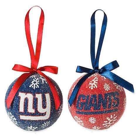 nfl new york giants led lighted christmas ornament set