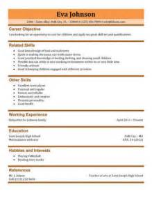 professional resume template docx downloads 3 free baby sitter resume sles in word