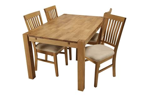 Royal Oak Small Dining Table & 4 Dining Chairs Small