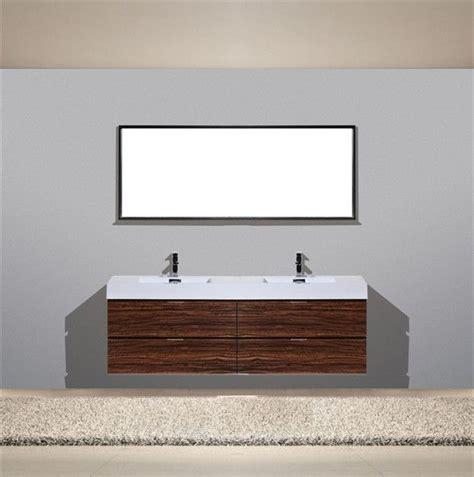Modern Bathroom Vanities Canada by Bliss 72 Quot Walnut Wall Mount Modern Bathroom Vanity