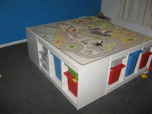 Trofast table for playroom 007: Ideas for KidsRoom