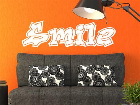 Graffiti Smile : Wandtattoo Graffiti Schriftzug Smile Von Wandtattoo.net
